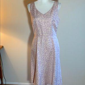 Ann Taylor Pastel linen/silk dress
